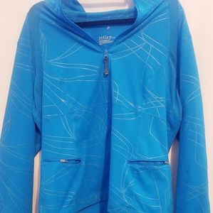Long sleeve blue sport jacket